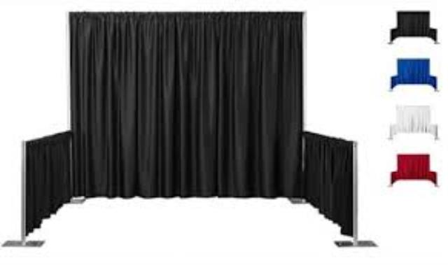 Where to find BOOTH CURTAINS 8  BLACK in Boone