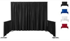 Rental store for BOOTH CURTAINS 8  BLACK in Boone NC