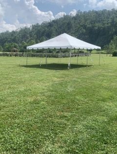 Rental store for CANOPY 20X20 FRAMED WHITE in Boone NC