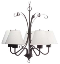 Rental store for CANOPY CHANDELIER BLACK IRON W SHADES in Boone NC