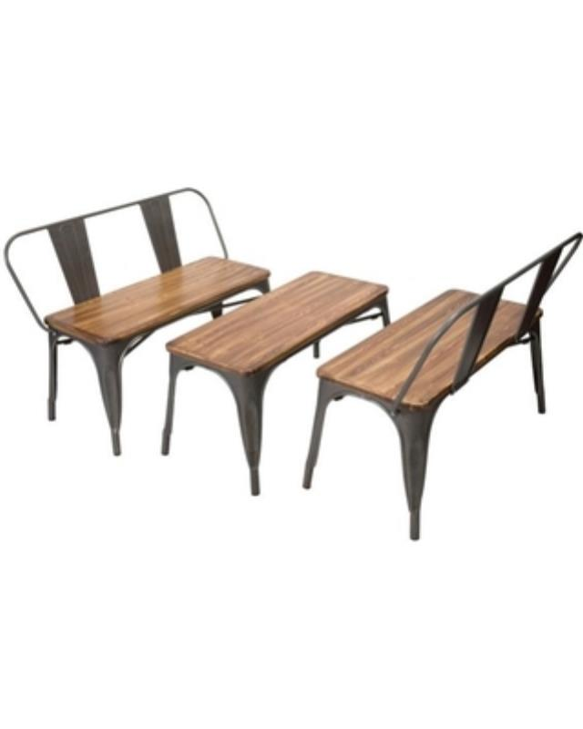 Where to find BENCH  2    TABLE SET ELIO GUN METAL in Boone