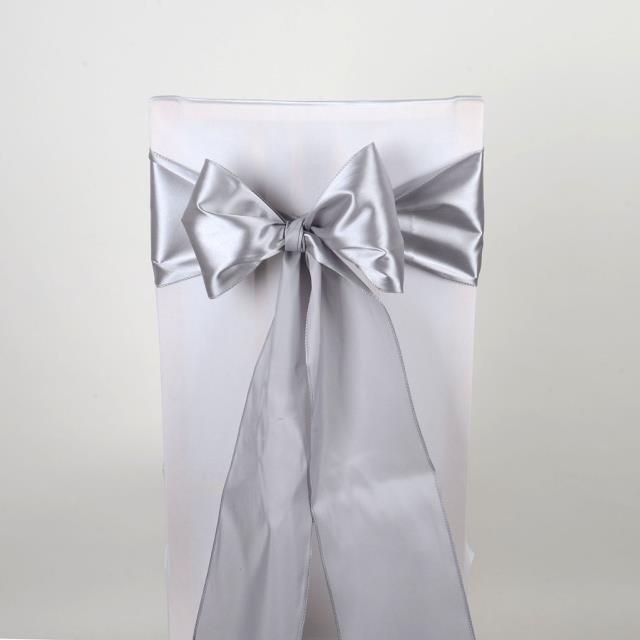 Where to find CHAIR SASH SILVER SATIN in Boone