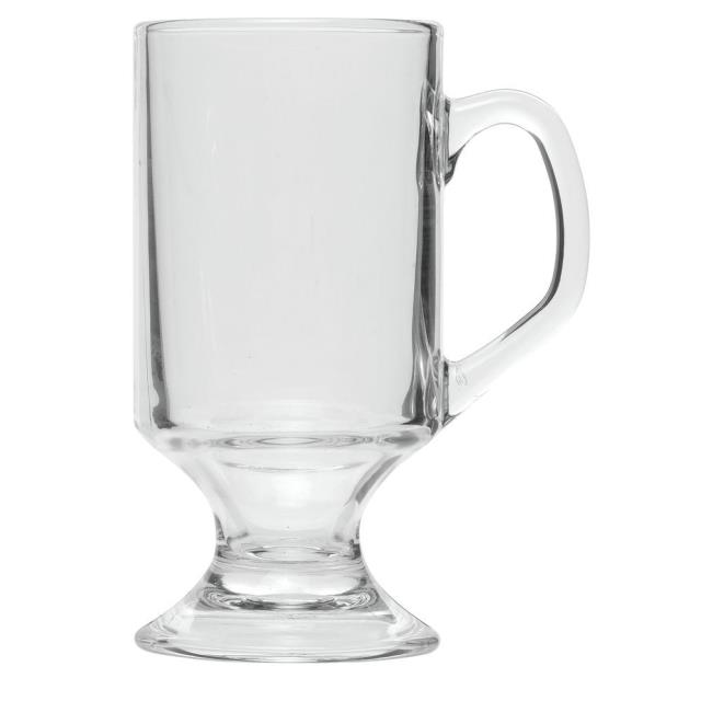 Where to find GLASS COFFEE MUG FOOTED 10OZ in Boone