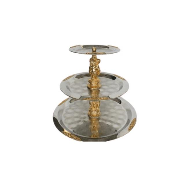 Where to find TRAY SILVER BRASS 3 TIER in Boone