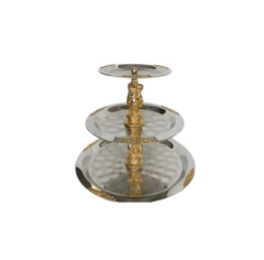 Rental store for TRAY SILVER BRASS 3 TIER in Boone NC