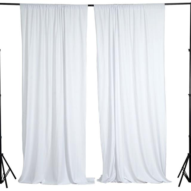 Booth sheer panel white 12 foot h x 10 foot w rentals Boone