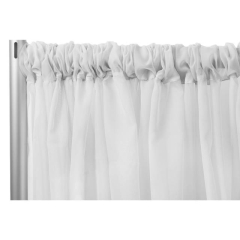 Rental store for BOOTH POLY SHEER WHITE 15  H X 118 in Boone NC