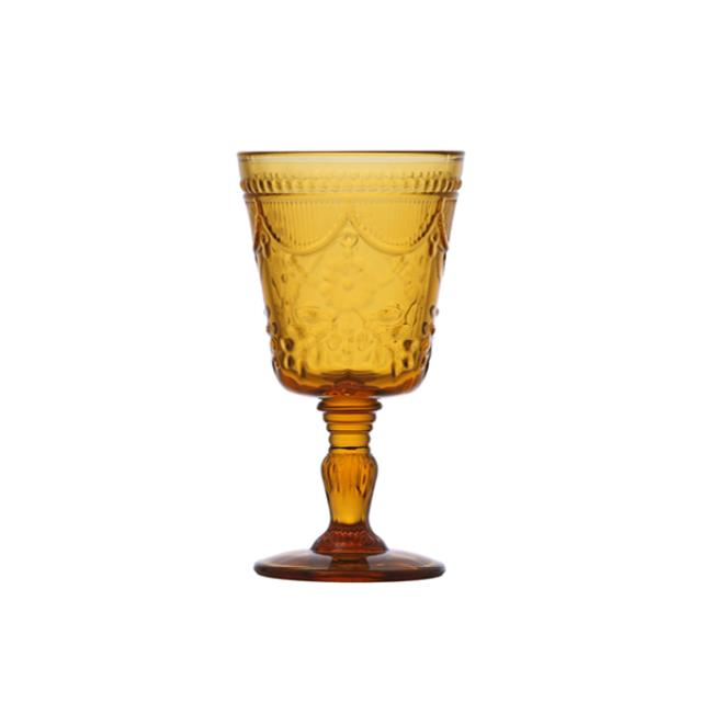 Where to find GLASS DEBUTANTE GOBLET 10oz AMBER in Boone