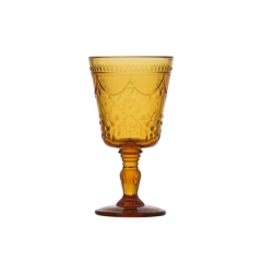 Rental store for GLASS DEBUTANTE GOBLET 10oz AMBER in Boone NC