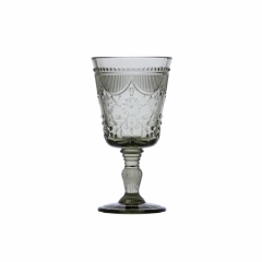 Rental store for GLASS DEBUTANTE GOBLET 10oz SMOKE in Boone NC